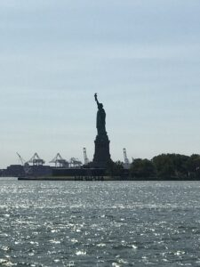 The Statue of Liberty as seen from Battery Park